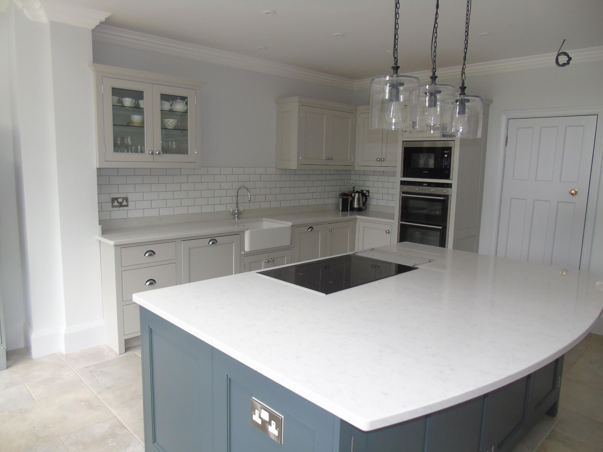 Handmade Georgian Beaded Door Kitchen - Solihull